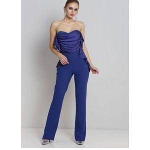 Cobalt Blue Strapless Jumpsuit
